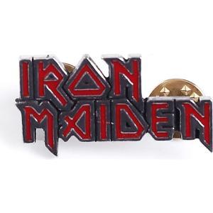 アイアン メイデン Iron Maiden グッズ ピンバッチ - Enamel Logo - Pin grey|fermart-hobby