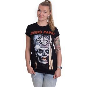 インペリコン Impericon レディース Tシャツ トップス - Here's Papa - T-Shirt black|fermart-hobby