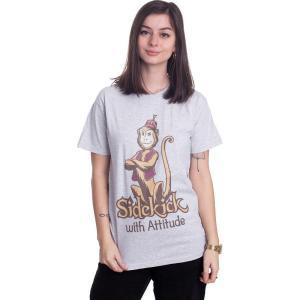 インペリコン Impericon レディース Tシャツ トップス - Sidekick With Attitude Heather Grey - T-Shirt grey|fermart-hobby