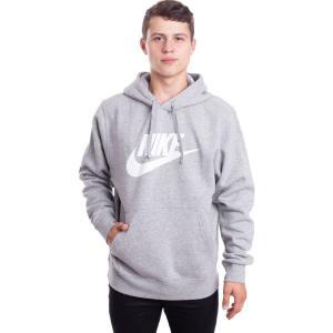 ナイキ Nike メンズ パーカー トップス - NSW Club BB GX Dark Grey Heather/White - Hoodie grey fermart-hobby