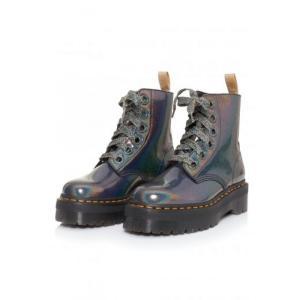 ドクターマーチン Dr. Martens レディース ブーツ シューズ・靴 - Molly Vegan Gunmetal Prysm multicolored|fermart-hobby