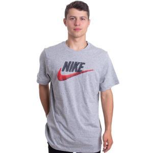 ナイキ Nike メンズ Tシャツ トップス - NSW Brand Mark Dark Grey Heather/HBNR Red - T-Shirt grey fermart-hobby