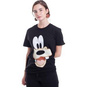 インペリコン Impericon レディース Tシャツ トップス Disney - Goofy Face-Up - T-Shirt black|fermart-hobby