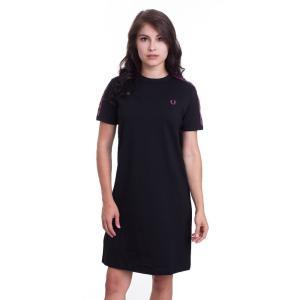 フレッドペリー Fred Perry レディース ワンピース ワンピース・ドレス Taped Ringer Black Dress black fermart-hobby