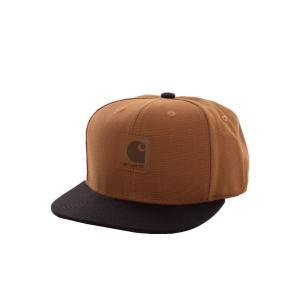 カーハート Carhartt WIP ユニセックス キャップ 帽子 - Logo Bi-Colored Hamilton Brown/Black - Cap brown|fermart-hobby