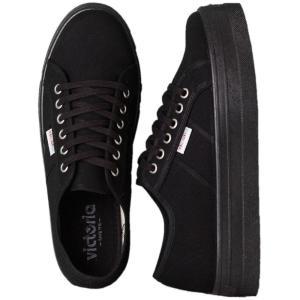 ヴィクトリア Victoria レディース スニーカー シューズ・靴 Blucher Lona Plataforma Girl Shoes black|fermart-hobby