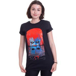 インペリコン Impericon レディース Tシャツ トップス - Face Reflection - T-Shirt black|fermart-hobby