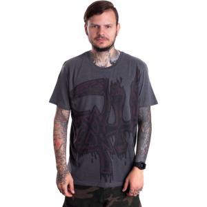 インペリコン Impericon メンズ Tシャツ トップス - Red Large Logo Dye Sub - T-Shirt grey|fermart-hobby