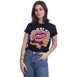 インペリコン Impericon レディース Tシャツ トップス - Animal Is My Wingman - T-Shirt black|fermart-hobby