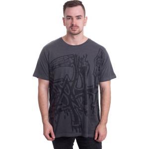 インペリコン Impericon メンズ Tシャツ トップス - Large Logo Black Dye Sub With Black Overdye - T-Shirt black|fermart-hobby