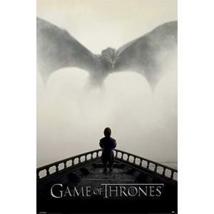 ゲーム オブ スローンズ Game Of Thrones グッズ A Lion & A Dragon Poster black|fermart-hobby