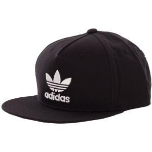 アディダス Adidas ユニセックス キャップ 帽子 Trefoil Flat Black Cap black|fermart-hobby