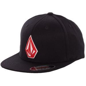 ボルコム Volcom ユニセックス キャップ 帽子 Stone Stack JFIT Spark Red Cap black|fermart-hobby