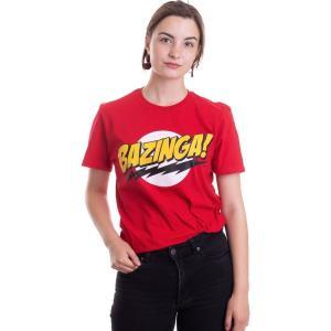 インペリコン Impericon レディース Tシャツ トップス - Bazinga Super Logo Red - T-Shirt red|fermart-hobby