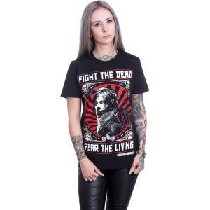ウォーキング デッド The Walking Dead レディース Tシャツ トップス Fight the Dead T-Shirt black|fermart-hobby