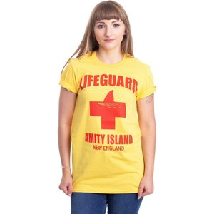 インペリコン Impericon レディース Tシャツ トップス - Amity Island Lifeguard Yellow - T-Shirt yellow|fermart-hobby
