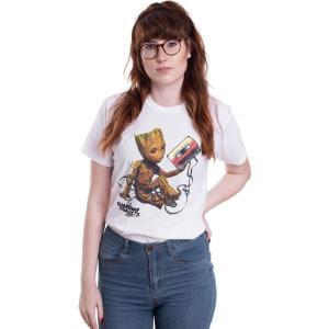 インペリコン Impericon レディース Tシャツ トップス - Groot And Tape White - T-Shirt white|fermart-hobby