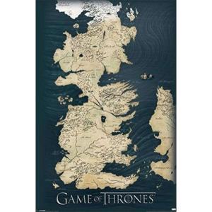 ゲーム オブ スローンズ Game Of Thrones グッズ Map Poster black|fermart-hobby