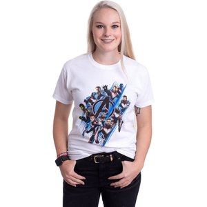 インペリコン Impericon レディース Tシャツ トップス - Diagonal Logo & Characters White - T-Shirt white fermart-hobby
