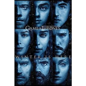 ゲーム オブ スローンズ Game Of Thrones グッズ Winter Is Here Poster black|fermart-hobby