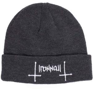 アイアン ネイル Ironnail ユニセックス ニット 帽子 Dalen Charcoal Beanie grey|fermart-hobby