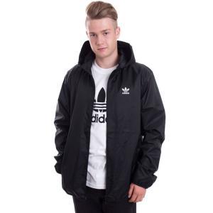 アディダス Adidas メンズ ジャケット アウター TRF Black Windbreaker black|fermart-hobby