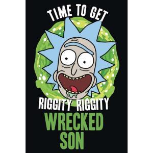 リック&モーティ Rick And Morty グッズ Wrecked Son Poster black fermart-hobby