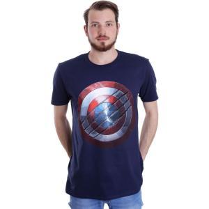 インペリコン Impericon メンズ Tシャツ トップス - Clawed Shield Navy - T-Shirt blue|fermart-hobby