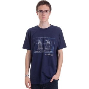 インペリコン Impericon メンズ Tシャツ トップス - Dalek Blueprint Navy - T-Shirt blue|fermart-hobby