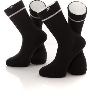 ナイキ Nike ユニセックス ソックス インナー・下着 Essential Crew Black/White/White Socks black|fermart-hobby