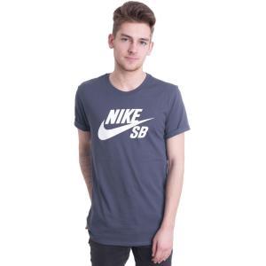 ナイキ Nike メンズ Tシャツ トップス - SB Logo Thunder Blue/White - T-Shirt blue fermart-hobby