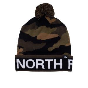 ザ ノースフェイス The North Face ユニセックス ニット ビーニー 帽子 - Ski Tuke Burnt Olive Green/Woods Camo Print - Beanie camouflage|fermart-hobby
