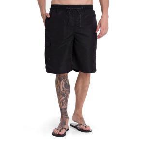 ブランディット Brandit メンズ 海パン 水着・ビーチウェア Swim Board Shorts black|fermart-hobby