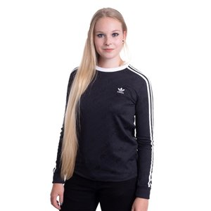 アディダス Adidas レディース トップス - 3 Stripes Black - Longsleeve black|fermart-hobby