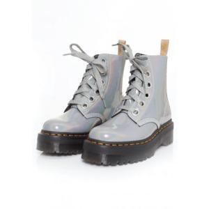 ドクターマーチン Dr. Martens レディース ブーツ シューズ・靴 - Molly Vegan Silver Prysm grey|fermart-hobby