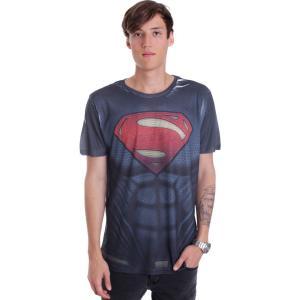 インペリコン Impericon メンズ Tシャツ トップス - Superman Costume Allover - T-Shirt black|fermart-hobby