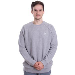 アディダス Adidas メンズ トップス - Essential Crew Medium Grey Heather - Longsleeve grey|fermart-hobby