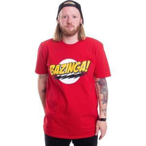 インペリコン Impericon メンズ Tシャツ トップス - Bazinga Super Logo Red - T-Shirt red|fermart-hobby