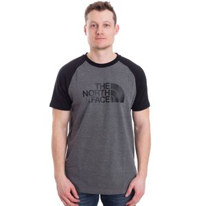 ザ ノースフェイス The North Face メンズ Tシャツ トップス Raglan Easy TNF Mid Grey Heather T-Shirt black fermart-hobby