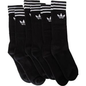 アディダス Adidas ユニセックス ソックス インナー・下着 Solid Crew 3 Pack Black/White Socks black|fermart-hobby