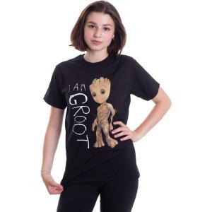 インペリコン Impericon レディース Tシャツ トップス - I Am Groot Scribbles - T-Shirt black|fermart-hobby