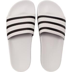 アディダス Adidas メンズ サンダル シューズ・靴 Adilette White/Core Black/White Sandals white|fermart-hobby