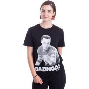 インペリコン Impericon レディース Tシャツ トップス - Sheldon Says BAZINGA! - T-Shirt black|fermart-hobby
