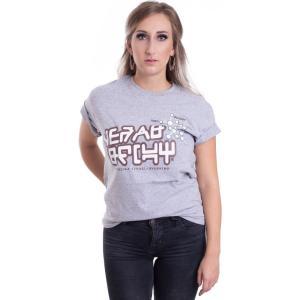 インペリコン Impericon レディース Tシャツ トップス - Star-Lord Movie Grey Melange - T-Shirt grey|fermart-hobby