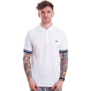 フレッドペリー Fred Perry メンズ ポロシャツ トップス Bold Cuff Pique White Polo white|fermart-hobby