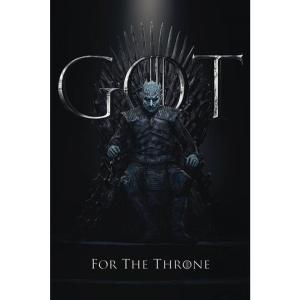 ゲーム オブ スローンズ Game Of Thrones グッズ ポスター - The Night King For The Throne - Poster black|fermart-hobby