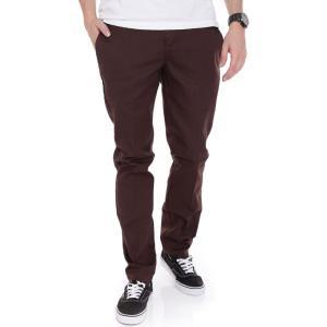 ディッキーズ Dickies メンズ スキニー・スリム ワークパンツ ボトムス・パンツ - Slim Fit Work 872 Chocolate Brown - Pants brown fermart-hobby
