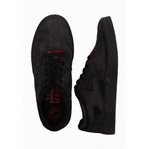 インペリコン Impericon メンズ スケートボード シューズ・靴 - Kalis Vulc TX SE Black/Black/Red - Shoes black fermart-hobby