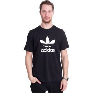 アディダス Adidas メンズ Tシャツ トップス Trefoil Black T-Shirt black|fermart-hobby