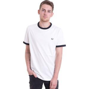 フレッドペリー Fred Perry メンズ Tシャツ トップス Ringer Snow White T-Shirt white|fermart-hobby